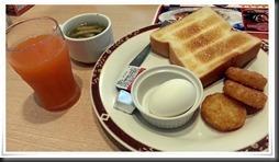 トースト&ゆで卵セット+α@ガスト