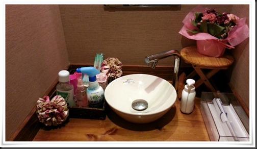 綺麗に整理されたトイレ@八輪