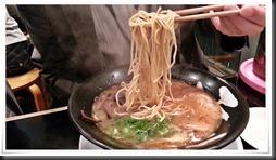 平打ちの特注麺@らーめん雷蔵 新宮店