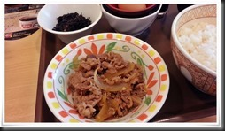 朝食牛皿ミニ@すき家