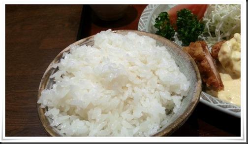 チキン南蛮膳のご飯@とんかつ大晃