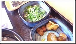 納豆定食のネギ&漬物@吉野家