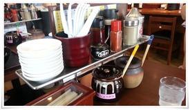 テーブル完備の薬味等@麺屋 新月