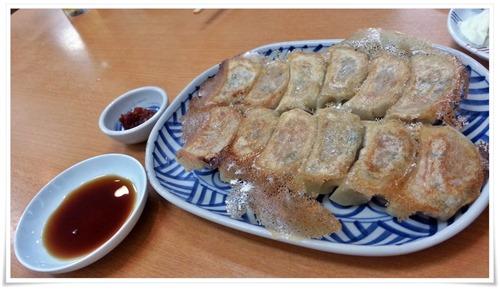 餃子とにんにくらー油@焼麺屋 虎之介