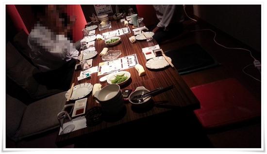 掘り炬燵式のテーブル席@喰い鍋や