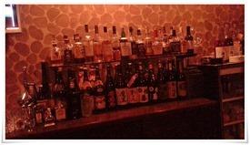 焼酎ボトルの数々@Dining Bar Liquid