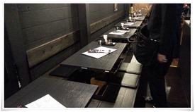 掘り炬燵式テーブル席@とりのてつ 魚町店