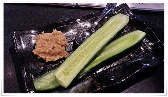 鶏味噌きゅうり@とりのてつ 魚町店
