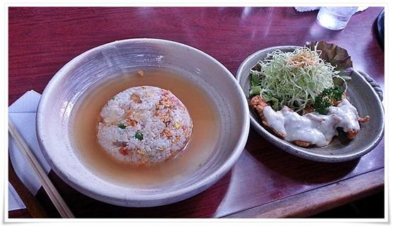 スープ炒飯&チキン南蛮セット@異太利亜