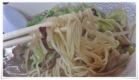 ちゃんぽんのオリジナル麺@ラーメン天晴