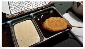 茄子の串揚げ@くしかつ一期屋