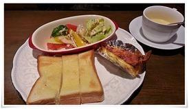 キッシュモーニングの一部@cafe 桜亭