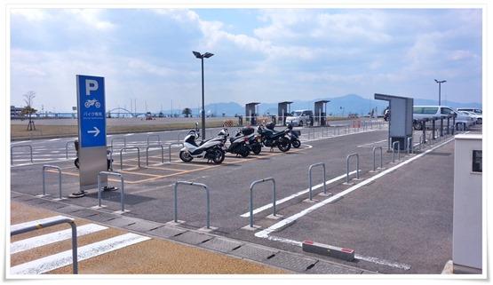 バイク置場@北九州空港