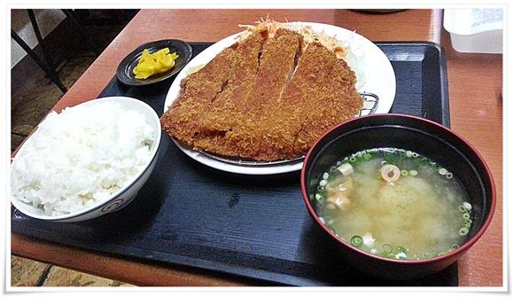 ジャンボロースカツ定食(ご飯大盛り)@銀次郎