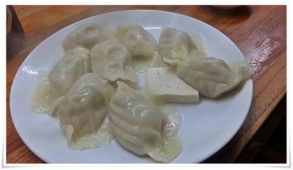 水餃子+何故か豆腐@餃子兄弟