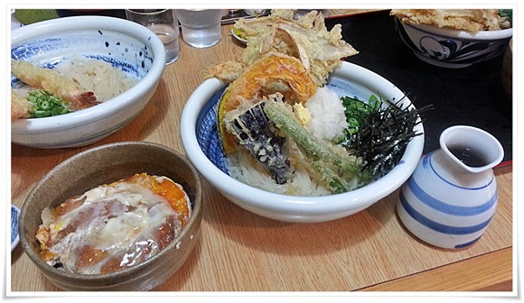 野菜天ぶっかけ&ミニカツ丼@うどん満月