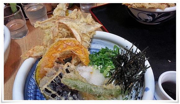 野菜天ぶっかけの天ぷら@うどん満月