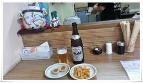 瓶ビール&オツマミ@ラーメン天晴(あっぱれ)