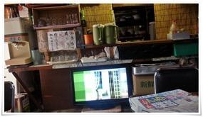 店内のテレビ@末広食堂