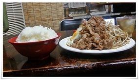豚しょうが焼+ご飯大@末広食堂