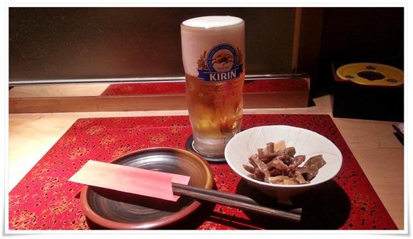 生ビール&小鉢@こらぁ源堺町店