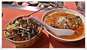 お子様飯&カルビスープ@焼肉 萬月(まんげつ)