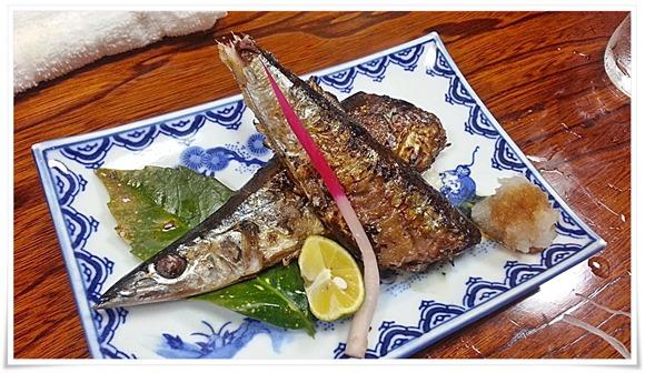 秋刀魚の塩焼き@活魚料理 鳥勝(とりかつ)