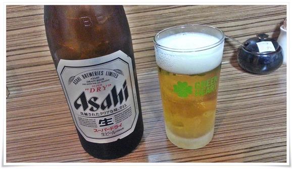 瓶ビールで乾杯!@天晴(あっぱれ)