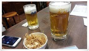 麦酒@立ち食い飲みそば屋 雅隆製麺