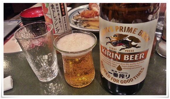 キリンも有ります@とんかつ浜勝 北九州陣山店