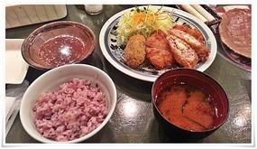 バラエティカツ定食@とんかつ浜勝 北九州陣山店