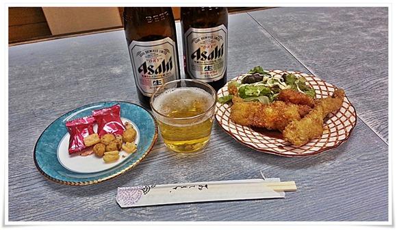 瓶ビールはすでに2本目@井形酒店