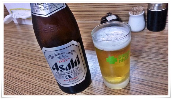 ビールで乾杯@ラーメン天晴(あっぱれ)