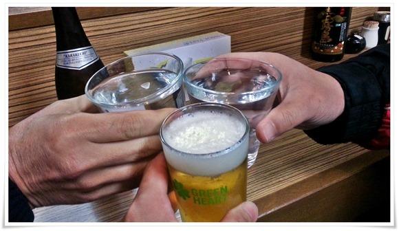 ビールで乾杯!@ラーメン天晴(あっぱれ)