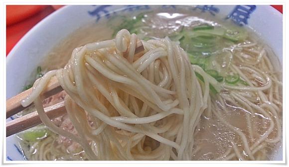 定番の細麺@元祖長浜屋