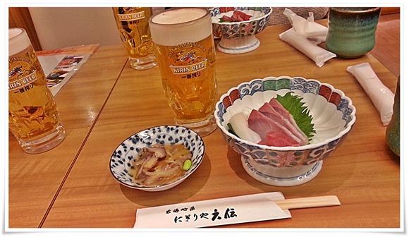 小鉢とお刺身@玄海地魚 にぎりや六伝