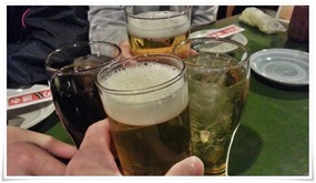 瓶ビールで乾杯@焼とり 源や(もとや)