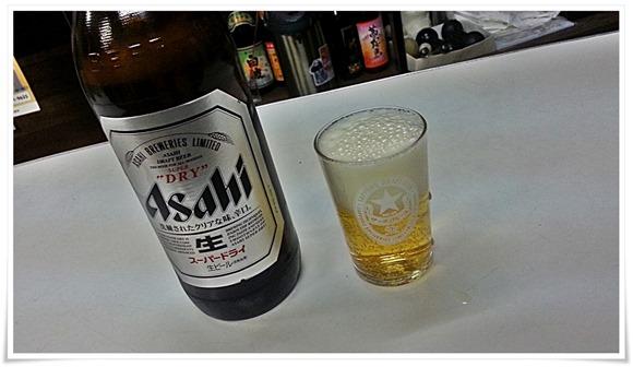 瓶ビールで乾杯@大上酒店