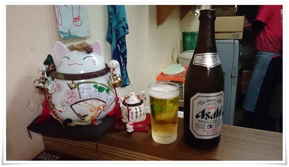 招き猫と乾杯@ラーメン天晴