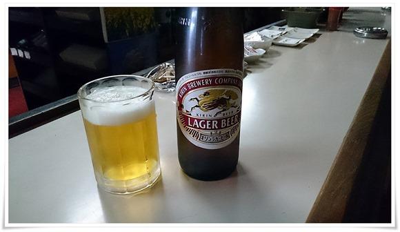 瓶ビールで乾杯@平島酒店