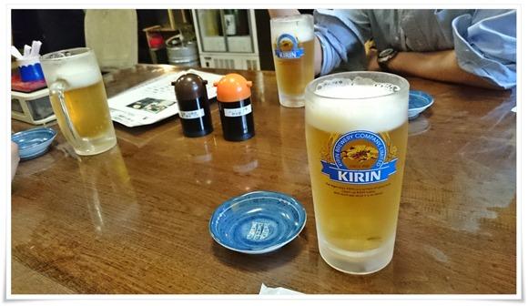 まずはビールで乾杯@海鮮いづつ