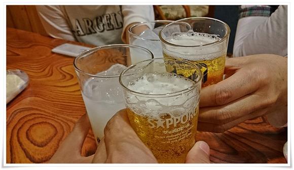 瓶ビールで乾杯@喰わんか屋 中央町店