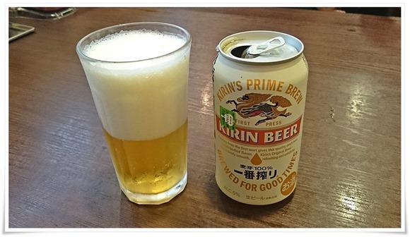 缶ビールで乾杯@ココ壱 八幡東区平野店