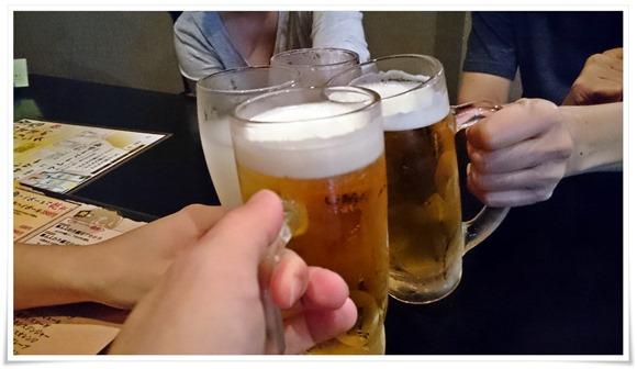 生ビールで乾杯@六味三徳 かれん