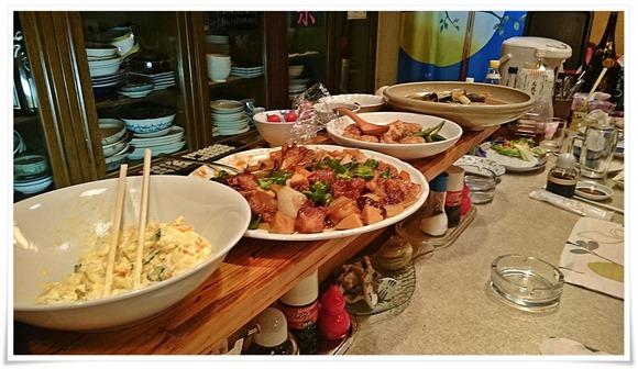 大皿料理の数々@お食事処たまき