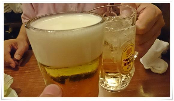 生ビールで乾杯@てけてけ 日本橋茅場町店