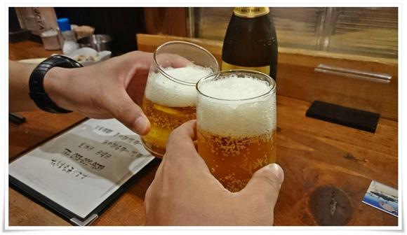 瓶ビールで乾杯@HIGOYA(ヒゴヤ)