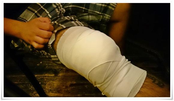 負傷中のマスター@花鳥風月