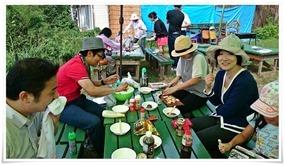 テーブル・椅子完備@野外貸しバーベキュー場 八幡村