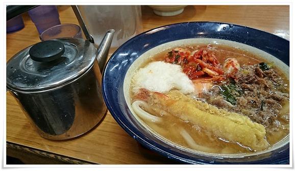スープが入ったヤカン@釜揚げ牧のうどん